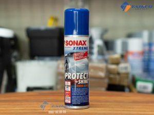 Chai xịt phủ Nano bóng sơn Sonax xtreme Protect Shine có thể dùng được cho các màu sơn của xe.