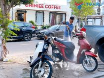 Máy rửa xe máy trong bộ dụng cụ rửa xe honda