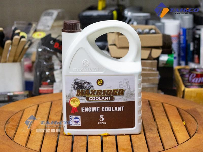 Dung dịch giảm nhiệt ( màu xanh ) Maxrider Engine Coolant 5 lít