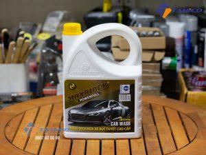 Dung dịch rửa xe bọt tuyết Maxrider Powerfull 5 lít giúp tạo ra lớp bọt dầy đặc bao phủ xung quanh bề mặt xe