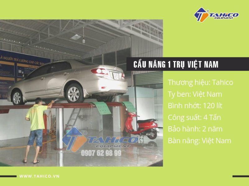 Cầu nâng 1 trụ rửa xe ô tô Việt Nam