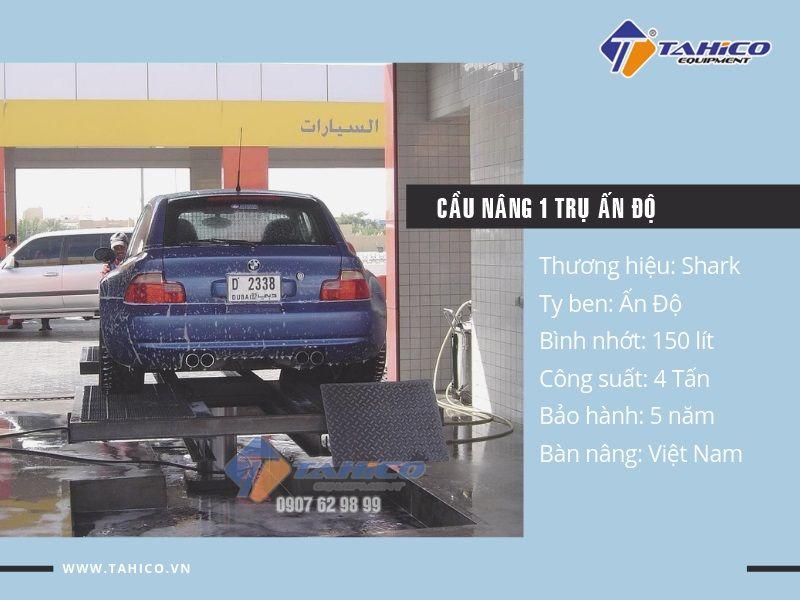 Cầu nâng 1 trụ rửa xe ô tô Ấn Độ nhập khẩu