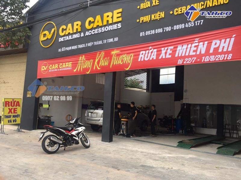 Lắp đặt cửa hàng rửa và chăm sóc ô tô Car Care ở Bình Dương