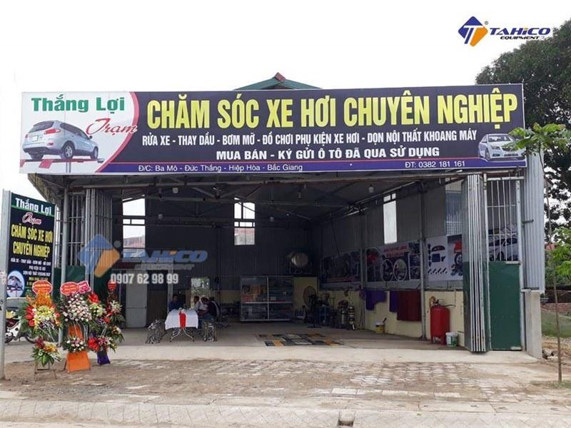 Lắp đặt trạm chăm sóc xe hơi chuyên nghiệp Thắng Lợi ở Bắc Giang