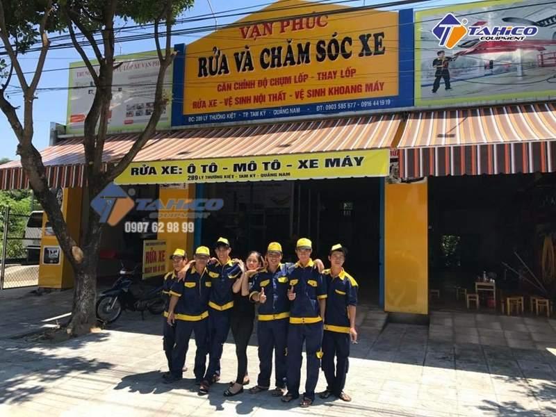 Lắp đặt trung tâm chăm sóc xe Vạn Phúc ở Quảng Nam