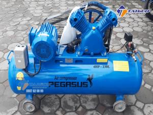 Máy nén khí dây đai Pegasus 4HP dùng điện 1 pha TM-W-0.36/8-230L được sản xuất trên dây chuyền hiện đại, kiểm tra chất lượng kỹ càng, đáp ứng được nhu cầu khách hàng