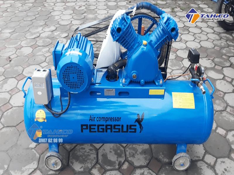 Máy nén khí dây đai Pegasus 4HP dùng điện 1 pha TM-W-0.36/8-100L