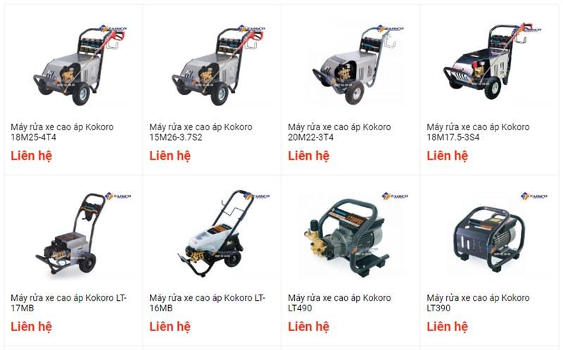 Cung cấp nhiều dòng sản phẩm máy bơm rửa xe cao áp khác nhau