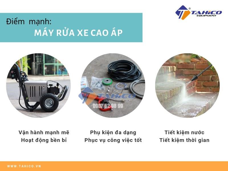 Ưu điểm của máy xịt rửa xe cao áp