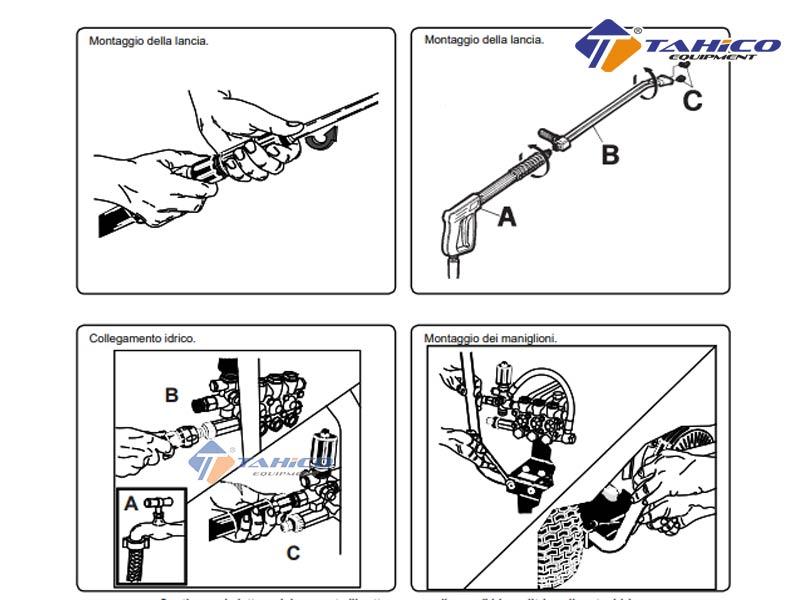 Cách lắp ráp máy rửa xe cao áp chạy bằng xăng IPC BenZ