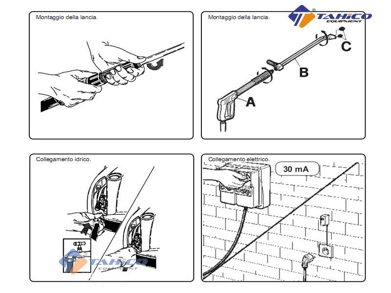 Cách lắp ráp máy rửa xe IPC PW-C40 (3 pha)