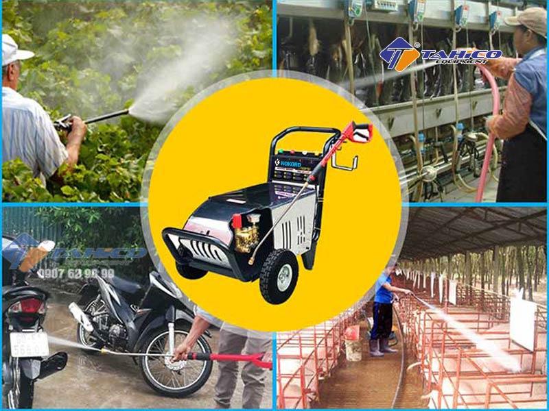 Máy thích hợp sử dụng trong những trạm rửa xe quy mô vừa và nhỏ.