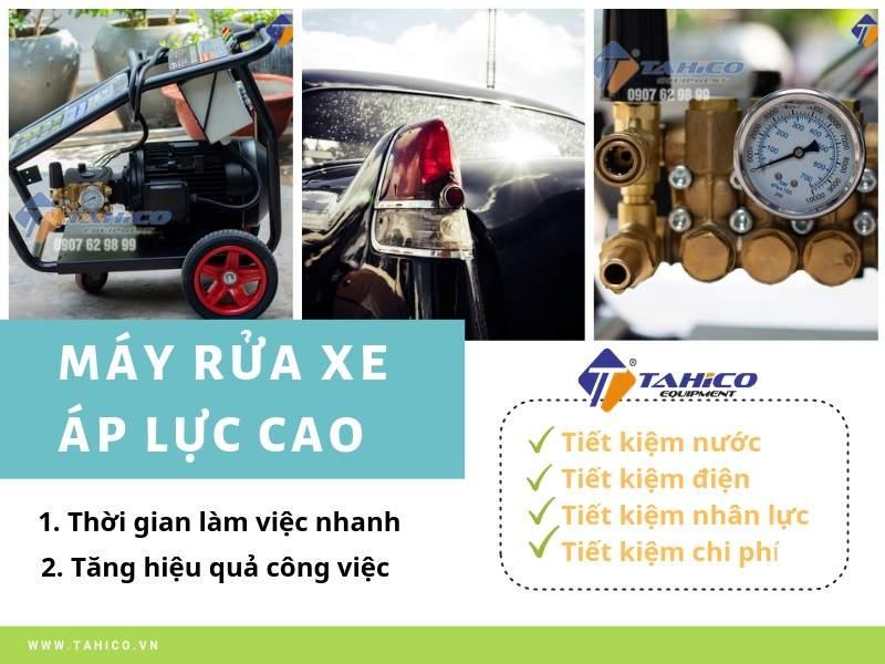 Máy rửa xe áp lực cao được sử dụng rộng rãi trong các tiệm rửa xe hiện nay
