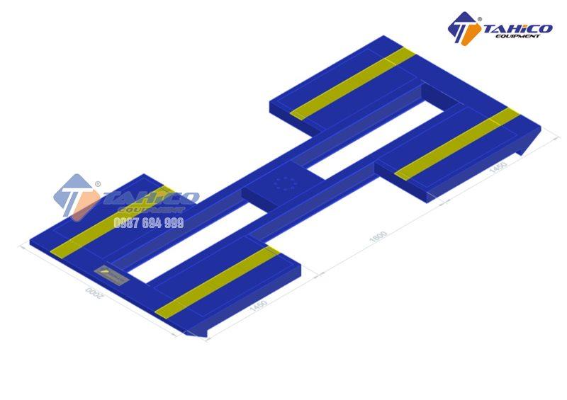 Bàn nâng cầu nâng 1 trụ Ấn Độ chữ I