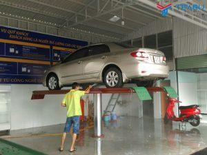 Bàn nâng nổi mặt nền của cầu nâng rửa xe ô tô