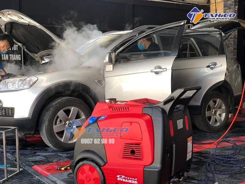 Máy xịt rửa cao áp hơi nước nóng chuyên dùng vệ sinh ô tô