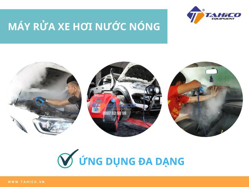 Ứng dụng máy rửa xe nước nóng đa dạng