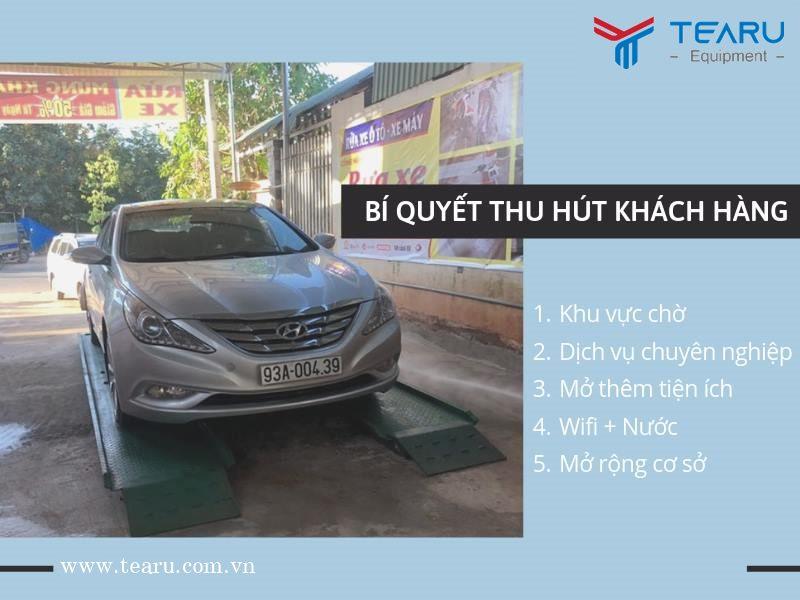 Thu hút khách hàng khi kinh doanh rửa xe