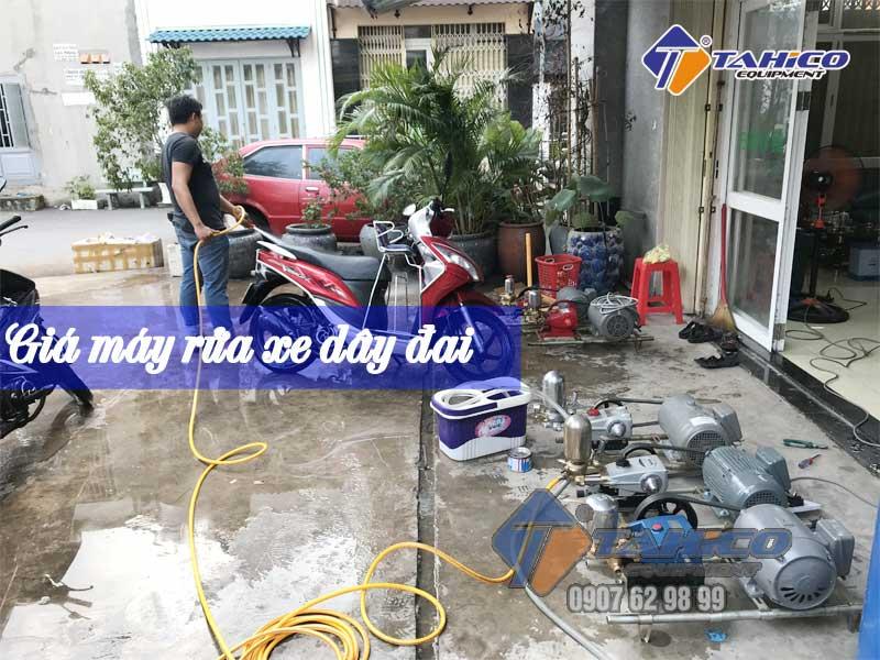 Gía máy rửa xe dây đai