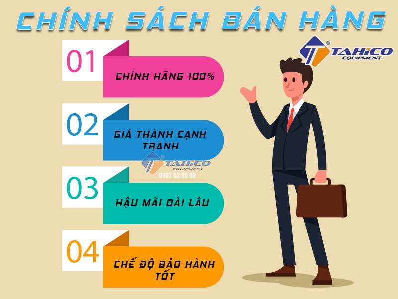 Chính sách bán hàng của công ty Tahico.