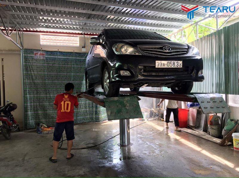 Tổng quan về cầu nâng 1 trụ rửa xe