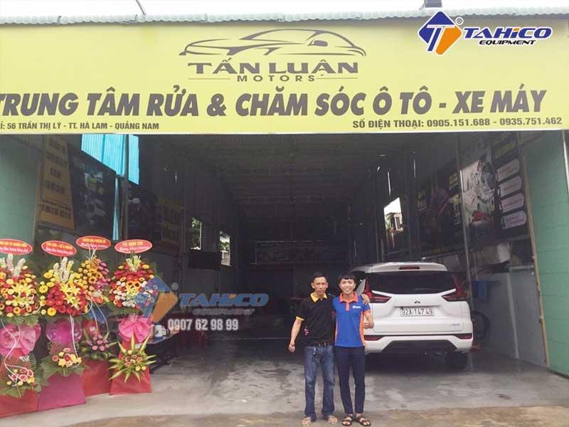 Lắp đặt tiệm rửa xe cho a Luận tại Hà Lam - Quảng Nam