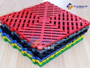 Tấm lót sàn 3 cm phiên bản kim cương lưới tản nhiệt khảm lỗ lớn
