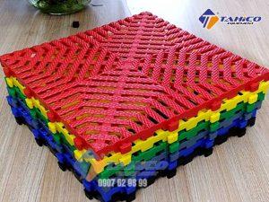 Tấm lót sàn phiên bản kim cương 3 cm nhỏ lưới tản nhiệt khảm