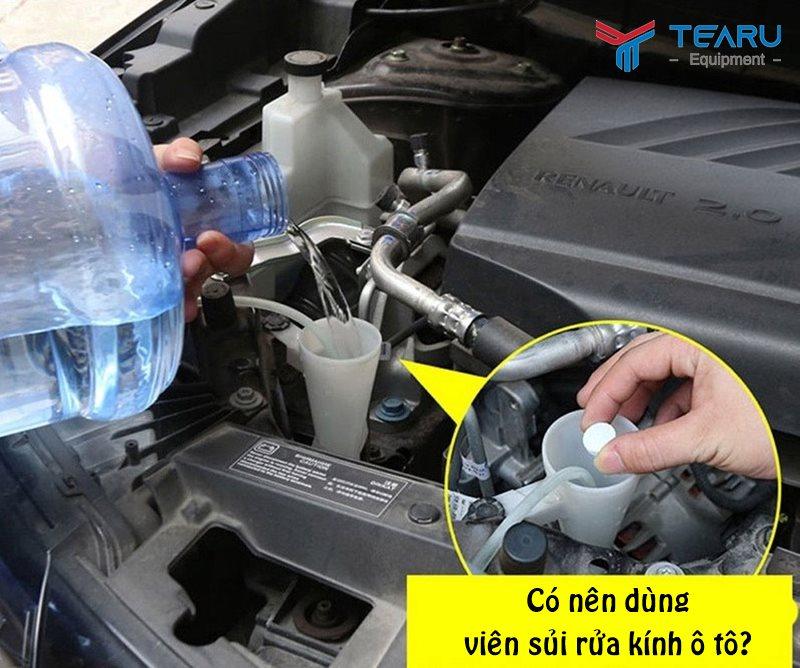 Lưu ý khi dùng viên nước rửa kính ô tô