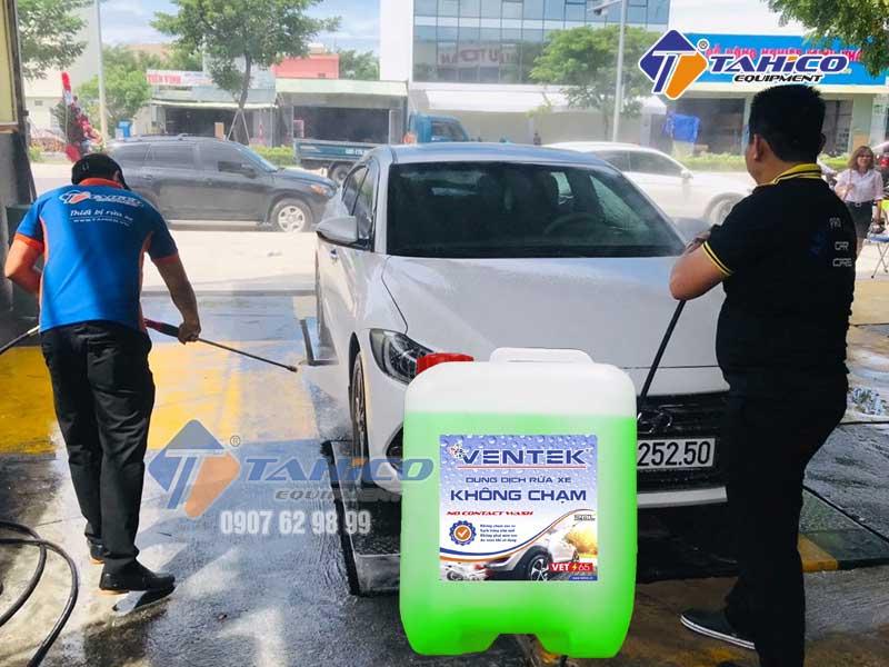 Hóa chất rửa xe không chạm Ventek