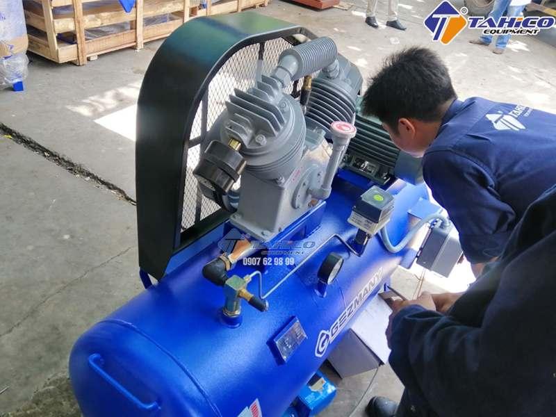 Máy nén khí Gezmany được sản xuất theo công nghệ Đức