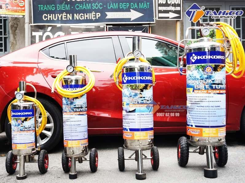 Bình bọt tuyết cần thiết cho các tiệm rửa xe