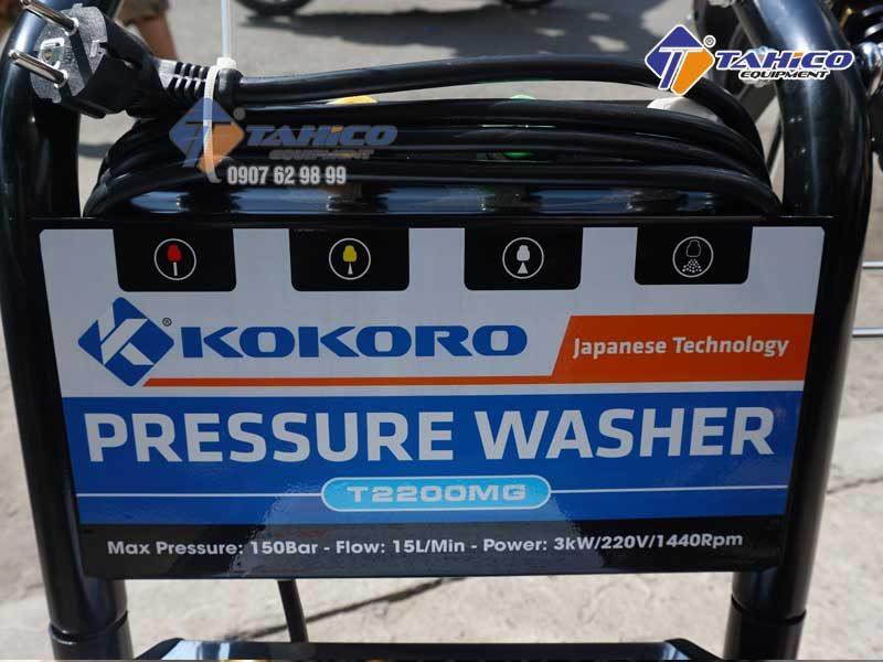 Thông số kỹ thuật của máy rửa xe