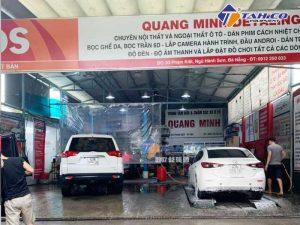 Tiệm rửa và chăm sóc xe Quang Minh của anh Hiếu
