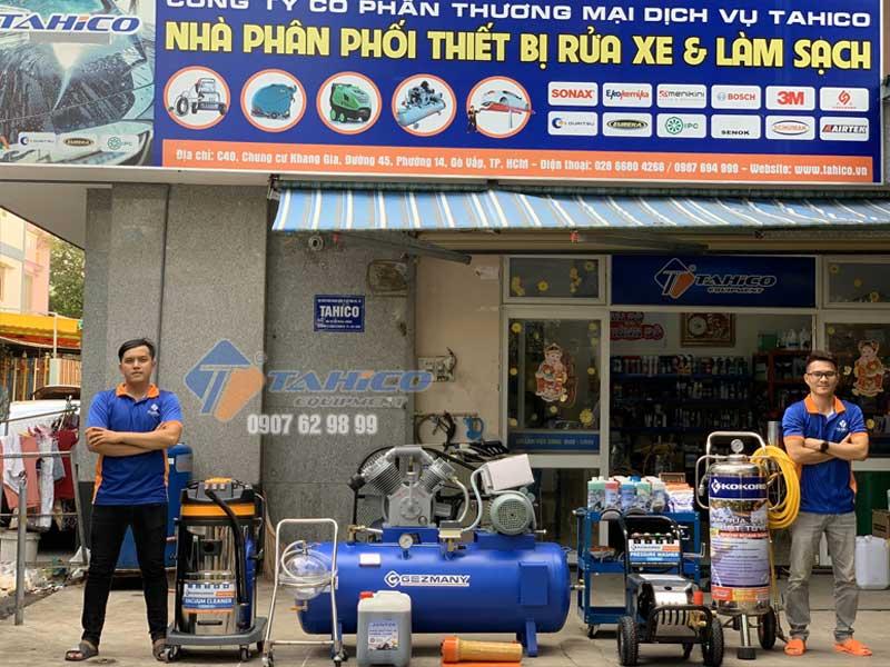 Các thiết bị rửa xe được bán tại công ty TAHICO