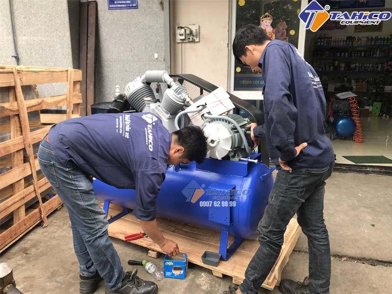 Máy nén khí Kokoro dùng nhiều cho tiệm rửa xe