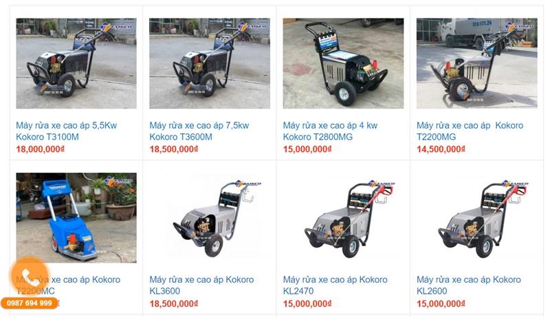 Máy bơm rửa xe cao áp Kokoro - Độc quyền từ TAHICO