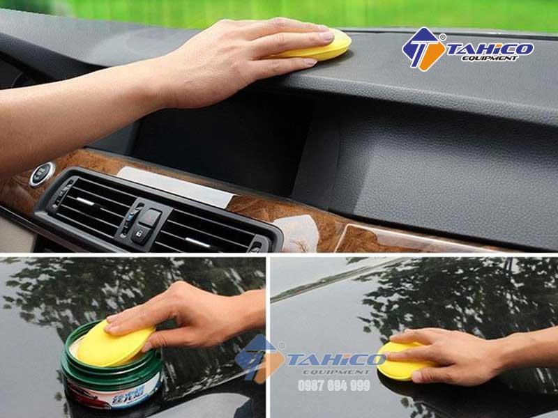 Sử dụng mút vệ sinh xe 4 inch