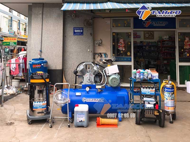 Công ty Tahico bán các thiết bị rửa và chăm sóc xe ô tô