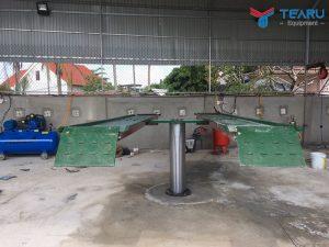 Cầu nâng 1 trụ rửa xe ô tô Việt Nam lắp nổi