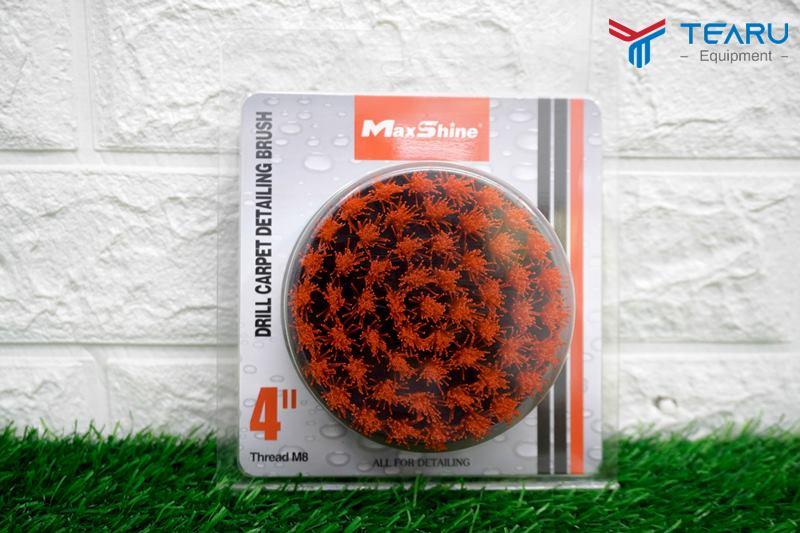 TEARU phân phối Bàn chải thảm tròn Drill Carpet Brush màu đỏ loại 4 inch