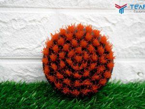 Bàn chải thảm tròn Drill Carpet Brush màu đỏ loại 4 inch