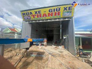 Hoàn thiện lắp đặt tiệm Rửa xe - Giữ xe Thanh ở KP Hồng Hạnh - Giồng Riềng - Kiên Giang
