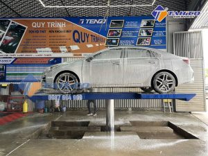 Ty nâng thủy lực cầu nâng 1 trụ rửa xe ô tô