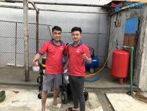 Lắp đặt tiệm rửa xe cho anh Đạt ở Kỳ Anh - Hà Tĩnh