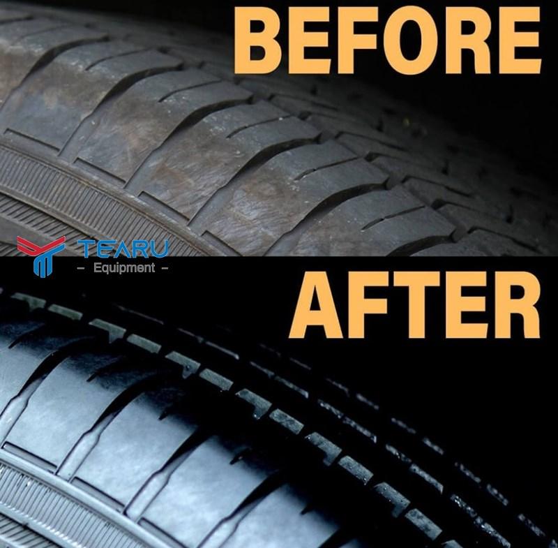 Dung dịch đen lốp sẽ giúp lốp phục hồi và kéo dài tuổi thọ