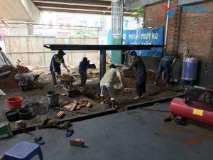 Hoàn thiện lắp đặt tiệm rửa xe cho anh Tiến ở Vĩnh Yên - Vĩnh Phúc