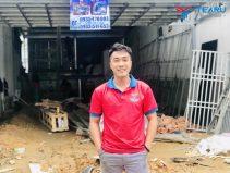 Lắp đặt bàn giao tiệm rửa xe cho anh Triều ở Huế