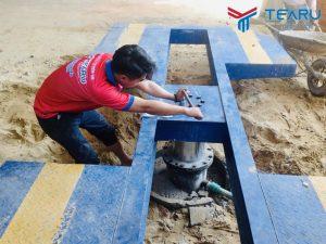 Lắp đặt bộ thiết bị rửa xe cho khách hàng ở Sơn Tịnh - Quảng Ngãi