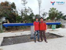Lắp đặt tiệm rửa xe cho chú Lai ở Hải Hậu - Nam Định